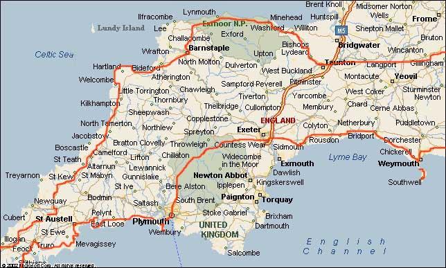 karte von südengland cornwall Mietwagenrundreise in Südengland und Cornwall   Sibylle Jakob