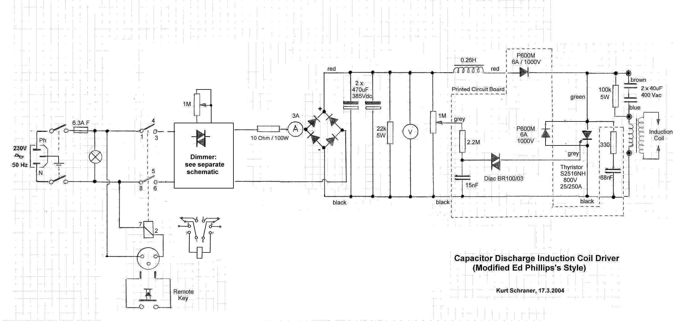 home datacomm ch  k schraner  cap discharger edp8 jpg Induction Motor Diagram Electromagnetic Induction Diagram