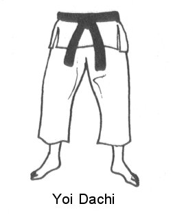 Karate: golpes de puño  Yoidachi