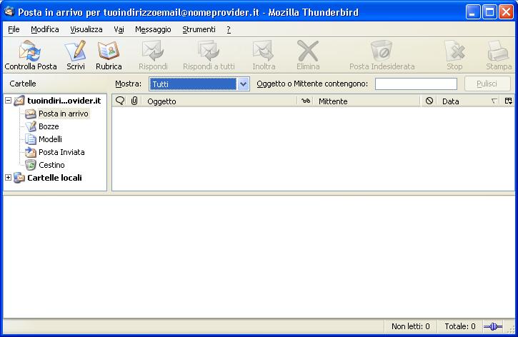 posta inviata thunderbird